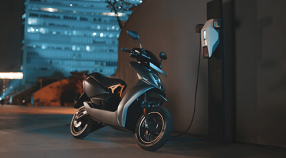 Ather energy super scooter charging with Ather charger